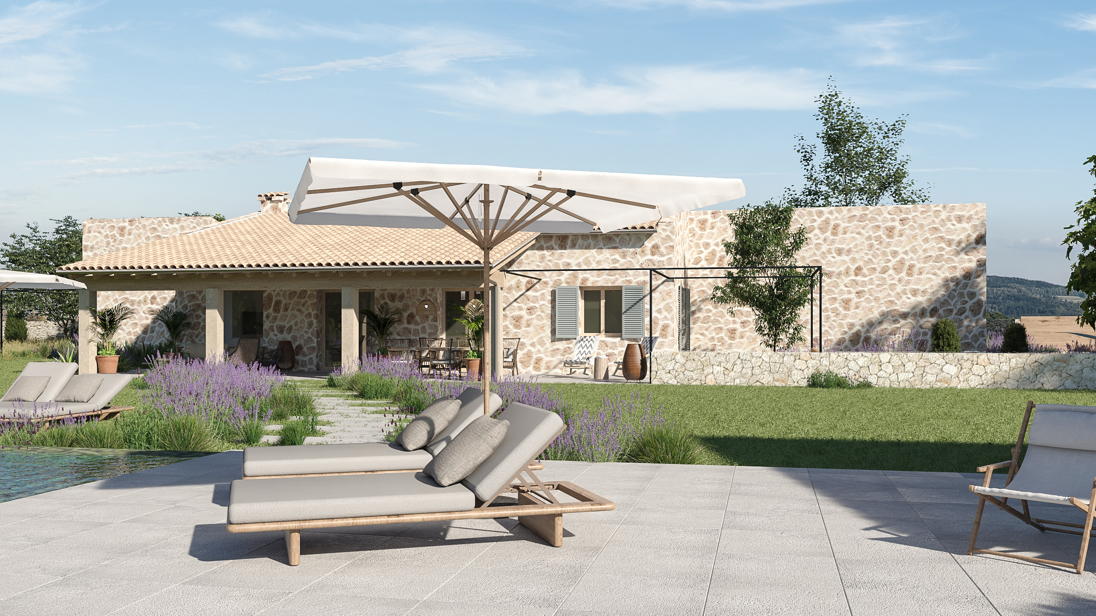 Brand new villa for sale set in the country side of Pollensa